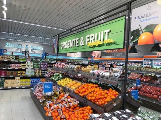 Groente en fruit schuin